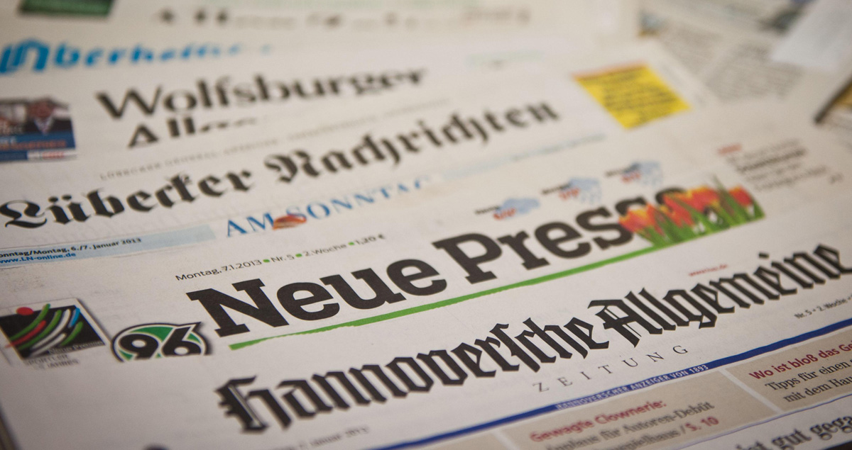 Foto di giornali tedeschi