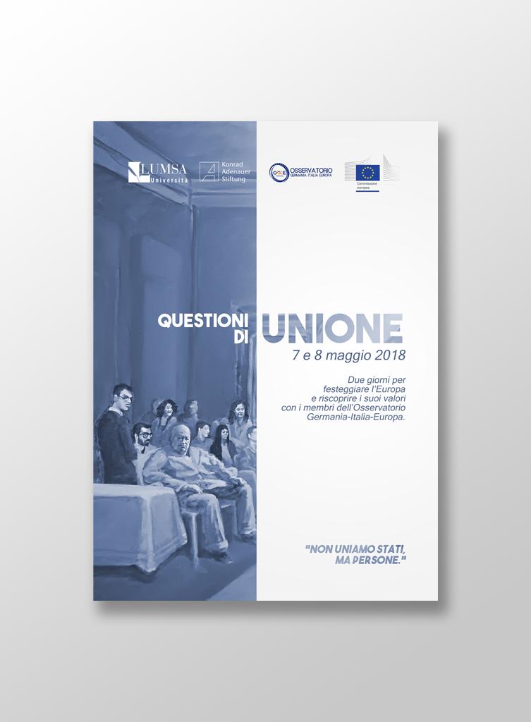 """Mocup brochure """"Questioni di unione"""""""