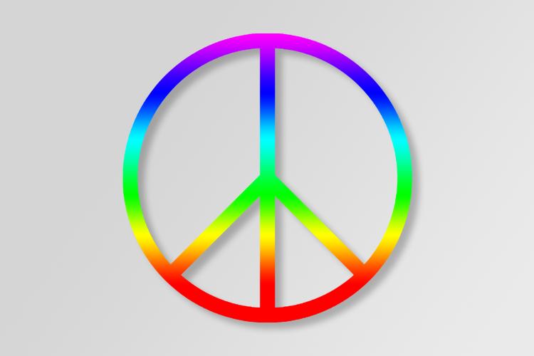 Cerchio colorato, simbolo della pace